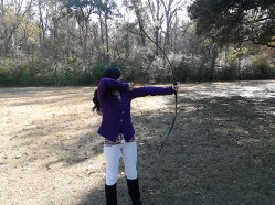 A rare few shots of me at the archery range